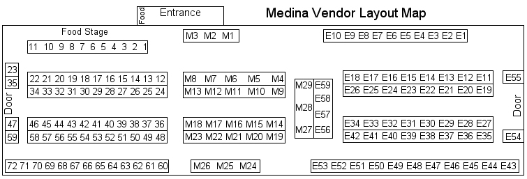 medina vendor layout